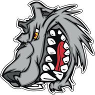 Наклейка Скалящийся волк, фото 1