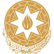 Наклейка Герб Азербайджана одноцветная, фото 1