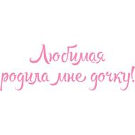 Наклейка Любимая родила мне дочку!, фото 1