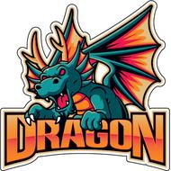 Наклейка Дракон-093, фото 1