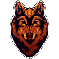 Наклейка Волк-084, фото 1