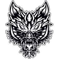 Наклейка Волк-087, фото 1