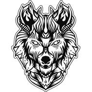 Наклейка Волк-088, фото 1