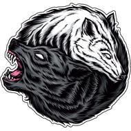 Наклейка Волк и волчица-090, фото 1