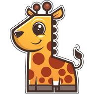 Наклейка Жирафик, фото 1