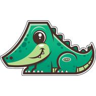 Наклейка Крокодильчик, фото 1