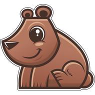 Наклейка Медвежонок, фото 1