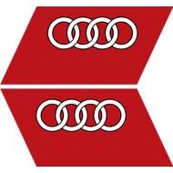 Комплект из 2 наклеек Audi, фото 1