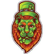 Наклейка Зеленый Лев в цилиндре, фото 1