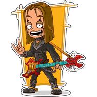 Наклейка Гот с гитарой, фото 1