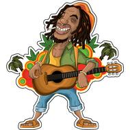 Наклейка Боб Марли, фото 1