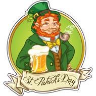 Наклейка Рыжебородый ирландец, фото 1