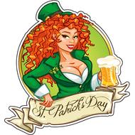 Наклейка Рыжеволосая Ирландка, фото 1