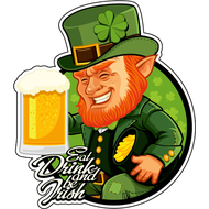 Наклейка Eat, Drink and be Irish, фото 1