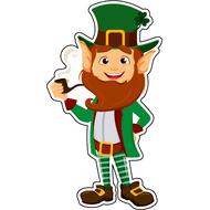 Наклейка Бородатый Лепрекон с трубкой, фото 1