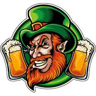 Наклейка Лепрекон с пивом, фото 1