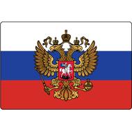 Наклейка Триколор с Гербом РФ, фото 1