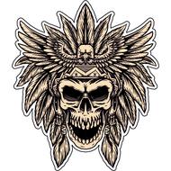 Наклейка Череп индейца, фото 1
