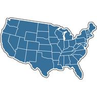 Наклейка Соединенные Штаты Америки, фото 1