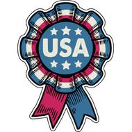 Наклейка Ленточка USA, фото 1