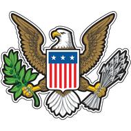 Наклейка Герб США, фото 1