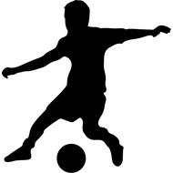 Наклейка Футболист, фото 1