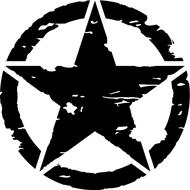 Наклейка Армейская звезда в круге, фото 1