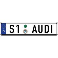 Наклейка Евро-номер AUDI S-серии, фото 1