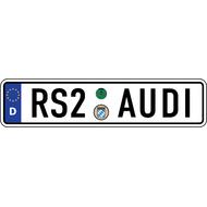 Наклейка Евро-номер AUDI RS-серии, фото 1