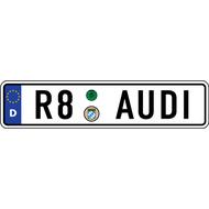 Наклейка Евро-номер AUDI R8-серии, фото 1