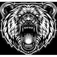 Наклейка Оскал медведя, фото 1
