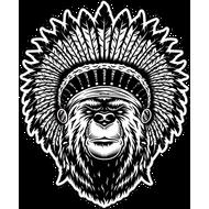 Наклейка Медведь индеец, фото 1