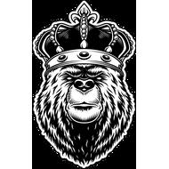 Наклейка Медведь в короне, фото 1