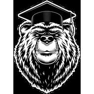 Наклейка Медведь академик, фото 1