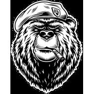 Наклейка Медведь пехотинец, фото 1