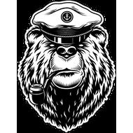Наклейка Медведь моряк, фото 1