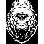 Наклейка Медведь в панаме, фото 1