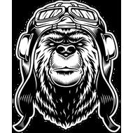 Наклейка Медведь пилот, фото 1