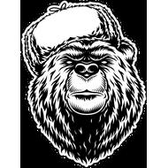 Наклейка Медведь в зимней шапке, фото 1