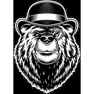 Наклейка Медведь джентльмен, фото 1