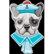 Наклейка Собака морячок, фото 1