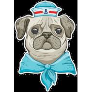 Наклейка Собакен Моряк, фото 1