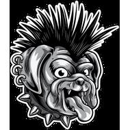 Наклейка Собака с ирокезом, фото 1