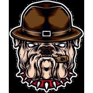 Наклейка Собака в шляпе, фото 1