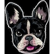 Наклейка Мордочка собаки, фото 1