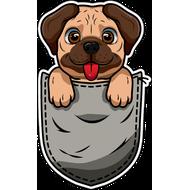 Наклейка Собачка в кармашке, фото 1
