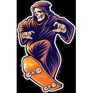 Наклейка Смерть на скейте, фото 1