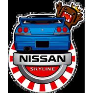 Наклейка Nissan Skyline, фото 1