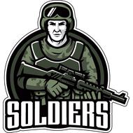 Наклейка Soldiers, фото 1