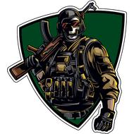 Наклейка Солдат удачи в маске, фото 1